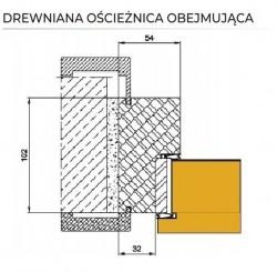 ościeżnica drewniana obejmująca